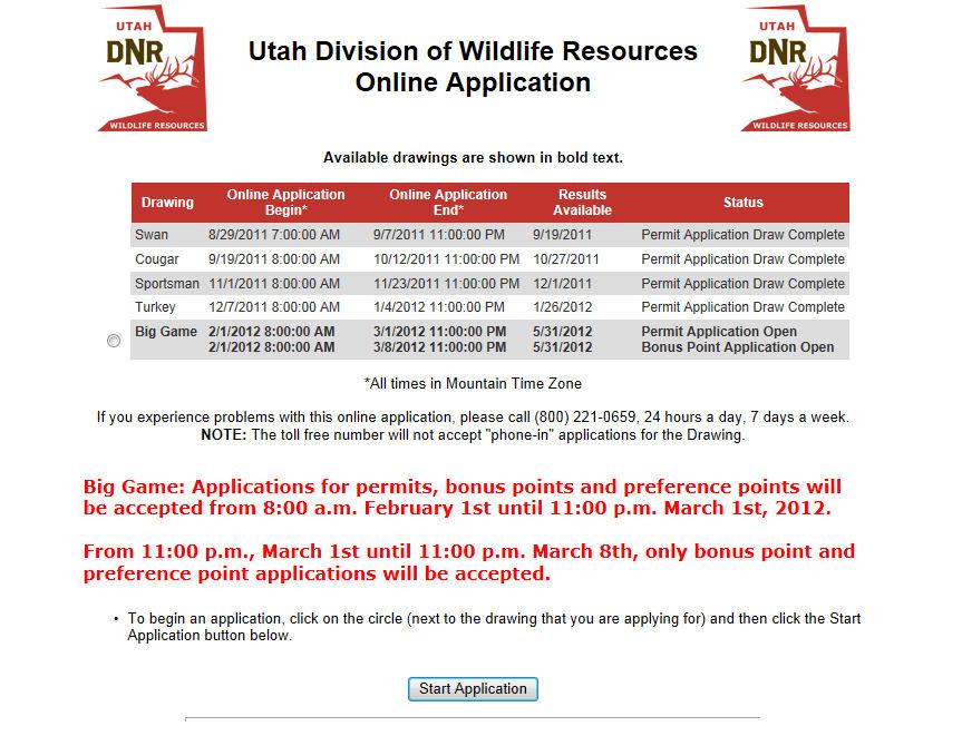 Utah big game deadline march 1st western hunter magazine for Utah game and fish